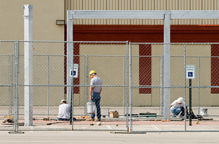 Temporary Fencing for construction and demolition job sites.